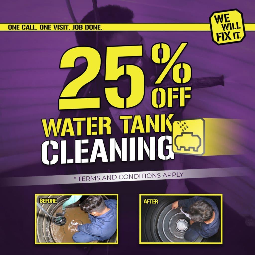 25% off Water Tank Cleanin